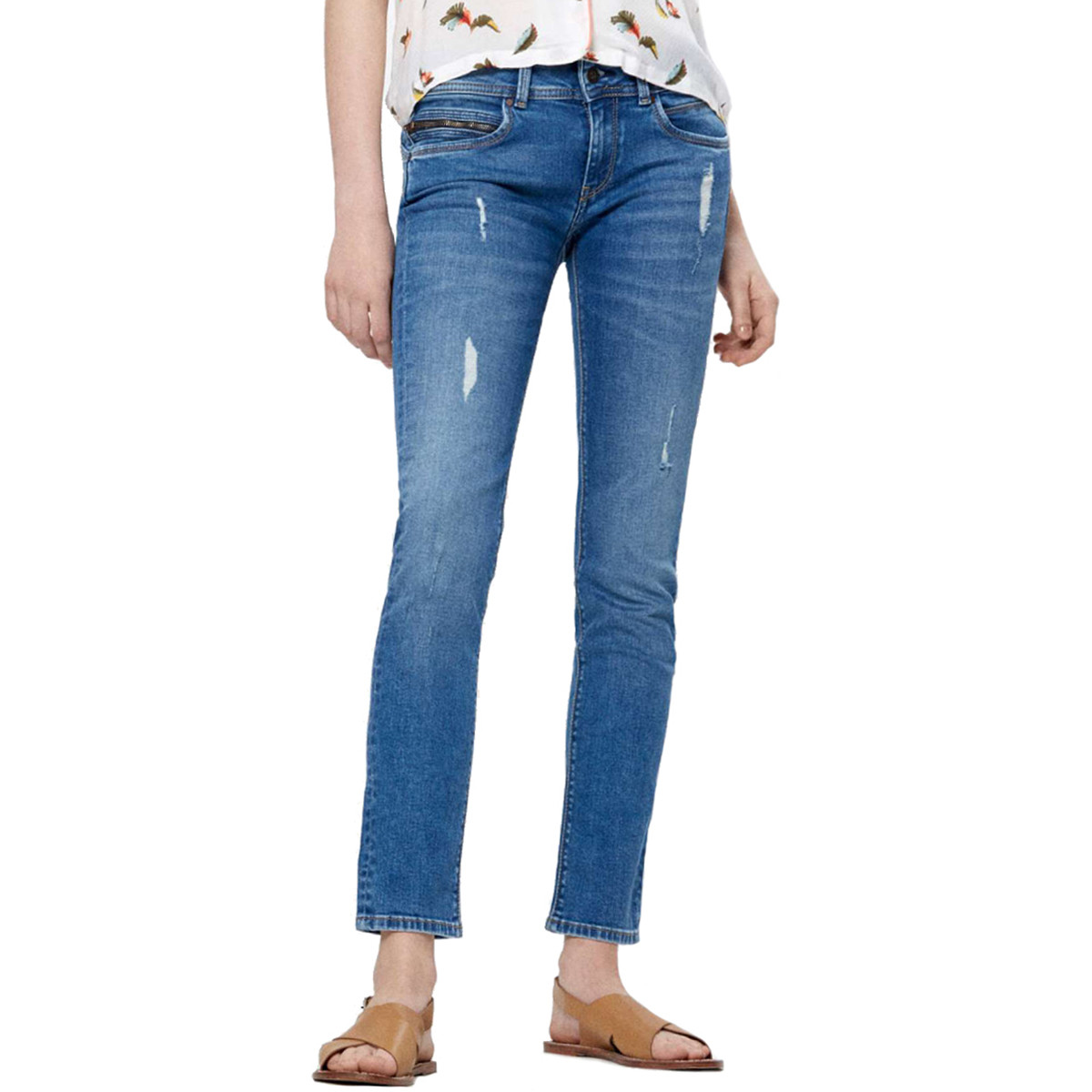 32 Wfq7i Longueur Jean Bleu New Femme Pepe Pas Brooke Cher Jeans vnwESWnfYq