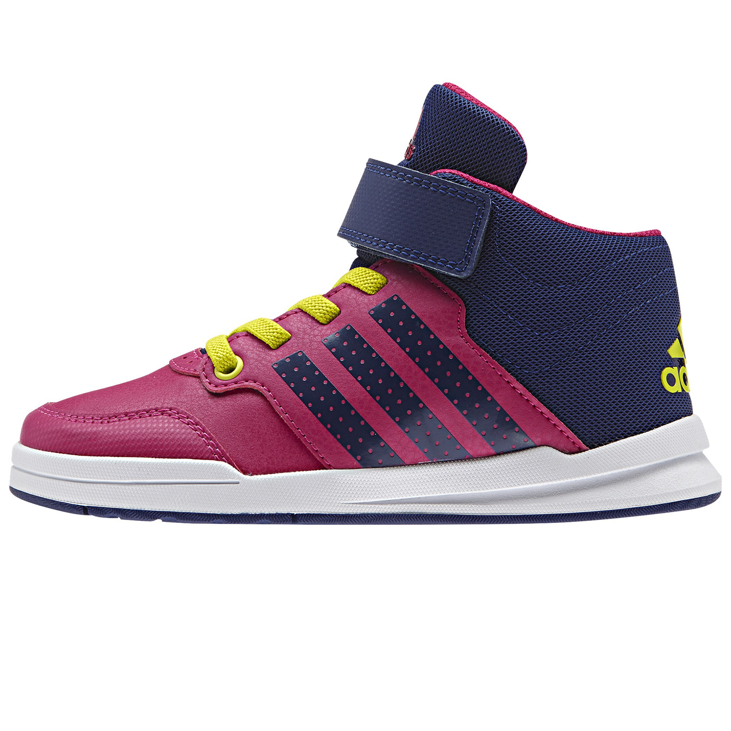 Jan Bs 2 Mid Chaussure Fille ADIDAS ROSE pas cher - Baskets ... f7a428493185