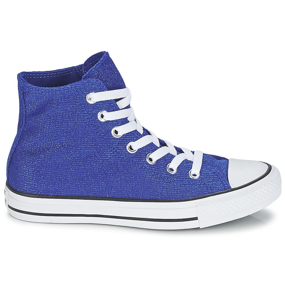 Knit Ct Sparkle Femme Converse Bleu Pas Textile Cher Hi Chaussure WE9IDYH2