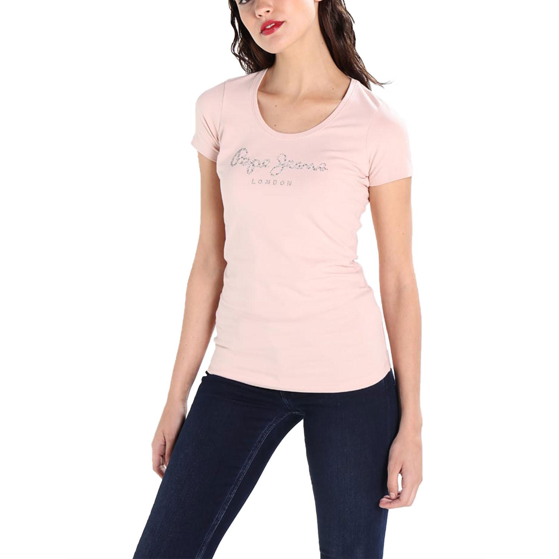 Puppy T-Shirt Mc Femme PEPE JEANS ROSE pas cher - T-shirts à manches ... 24c5f1d98aa0