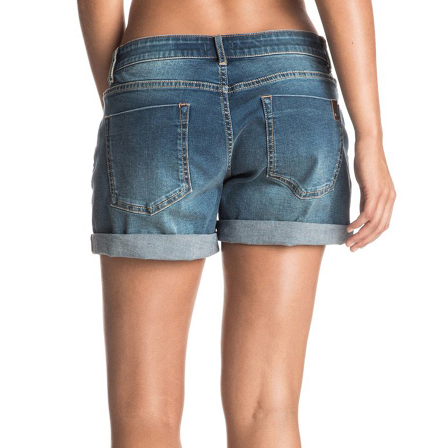 Rolly Up Short Jeans Femme ROXY BLEU pas