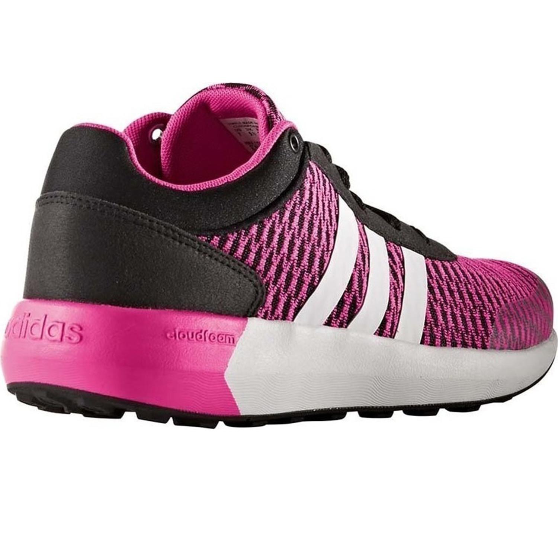 Femme Baskets Cloudfoam Adidas Chaussure Basses Pas Cher Rose Race UUqExwr0