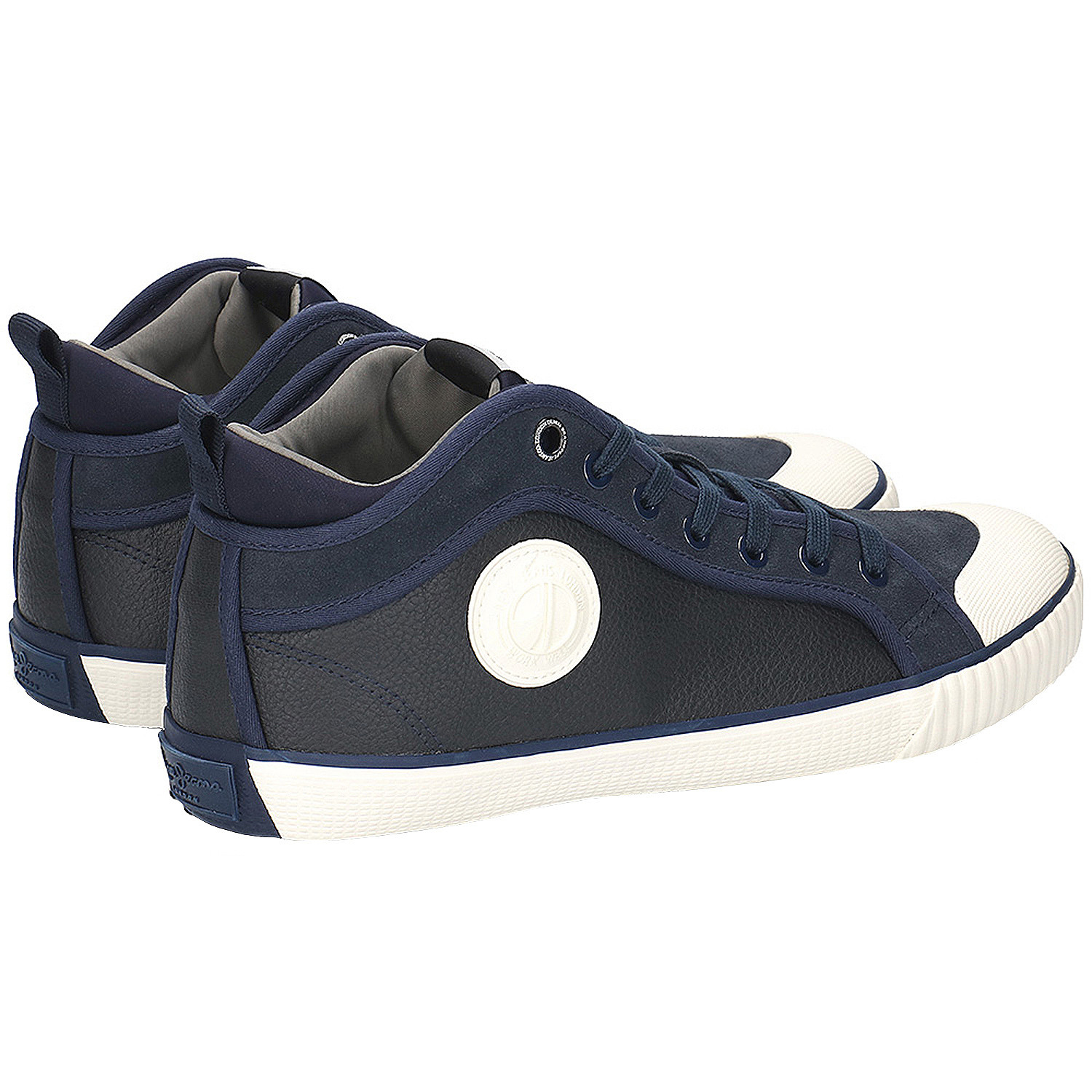 Industry Sock Chaussure Homme Pepe Jeans Bleu Pas Cher Baskets Montantes Homme Pepe Jeans Discount