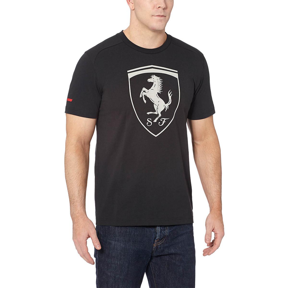 Ferrari Big Shield T Shirt Mc Homme PUMA NOIR pas cher T
