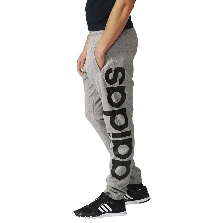 Lin Homme Pantalons Pantalon De Adidas Pas Cher Ess Tap Gris GqUMjSzLVp