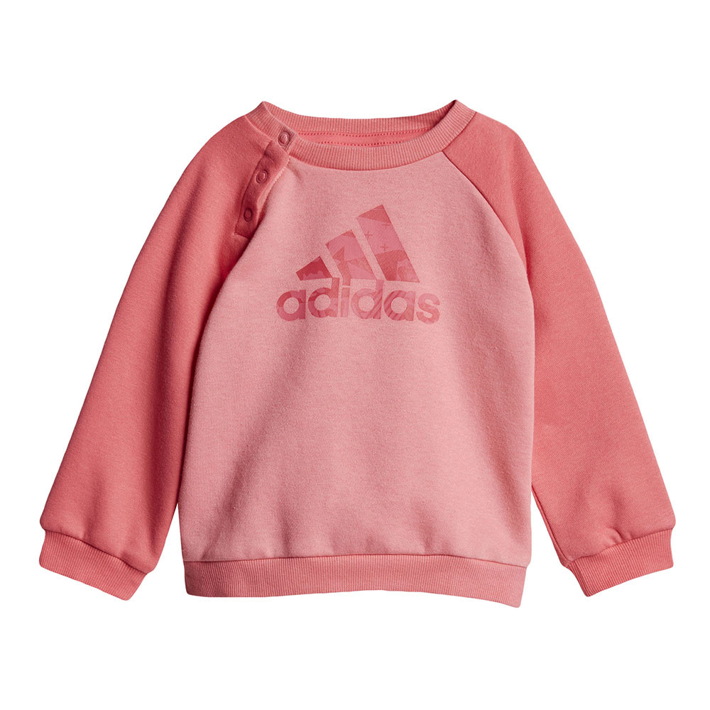 6d3fa84fe3 Adidas Logo Fleece Jogger Ensemble Survetement Bebe Fille ADIDAS ...
