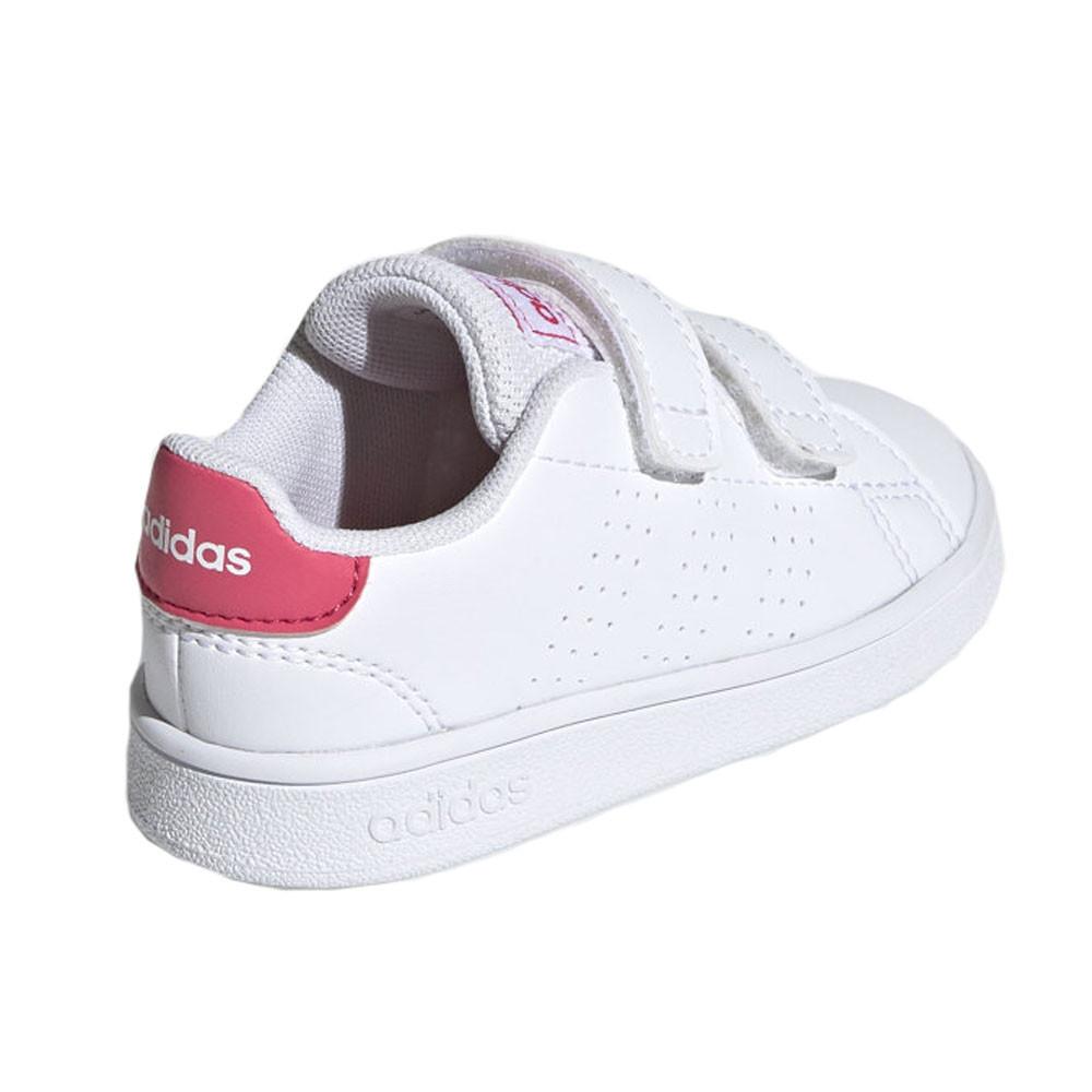 Advantage I Chaussure Bébé Fille ADIDAS BLANC pas cher - Baskets ...