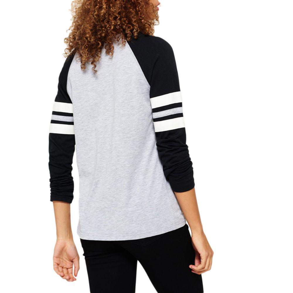 Applique Football Raglan T-Shirt Ml Femme
