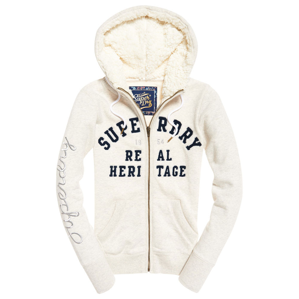 Aria Applique Sweat Zip Femme