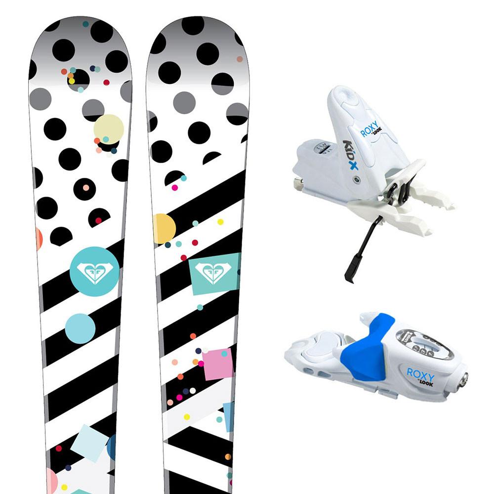 Bonbon Mini Ski + Roxy X B76 Fixations Bébé Fille
