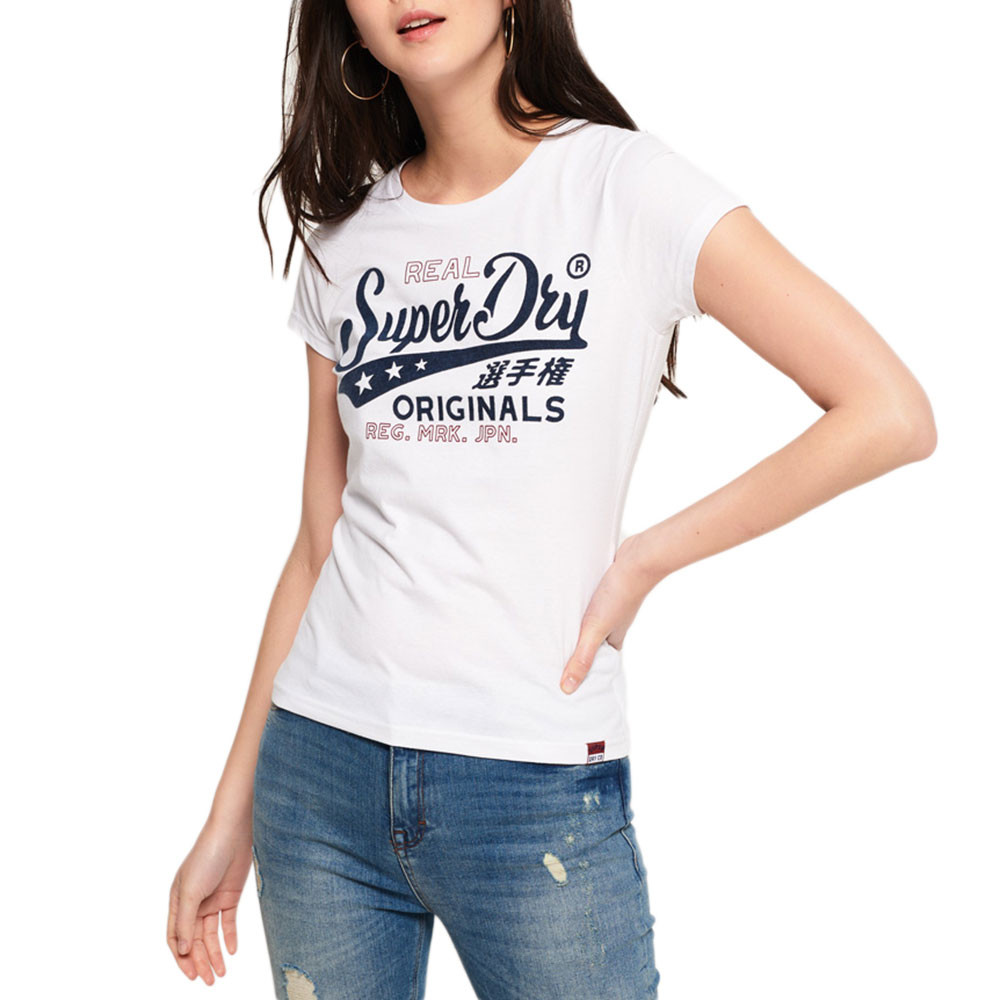 Bonded Denim Entry T-Shirt Mc Femme