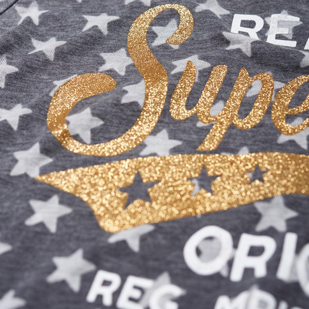 Burn Out Star Aop Entry T-Shirt Mc Femme