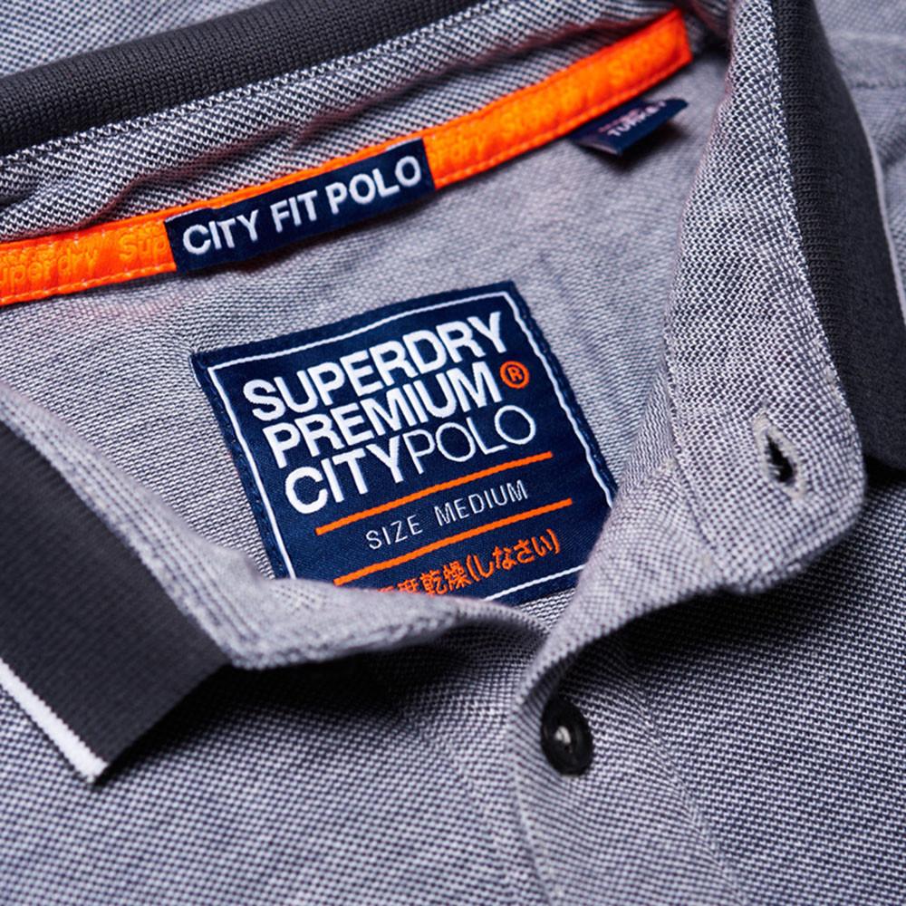 City Oxford S/s Pique Polo Mc Homme