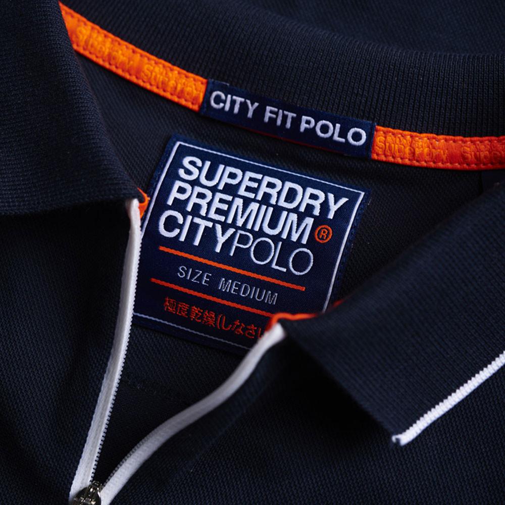 City Sport Zip Polo Mc Homme