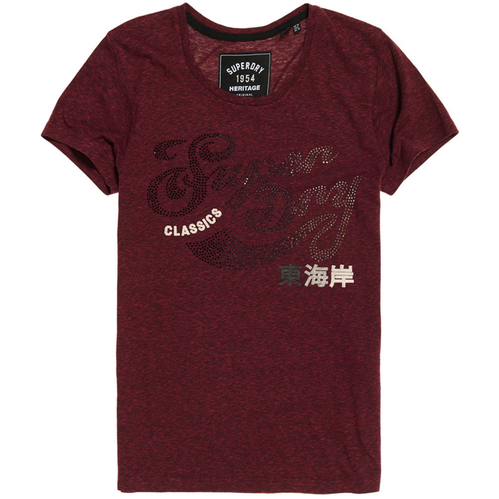 Classic Rhinestone Entry T-Shirt Mc Femme