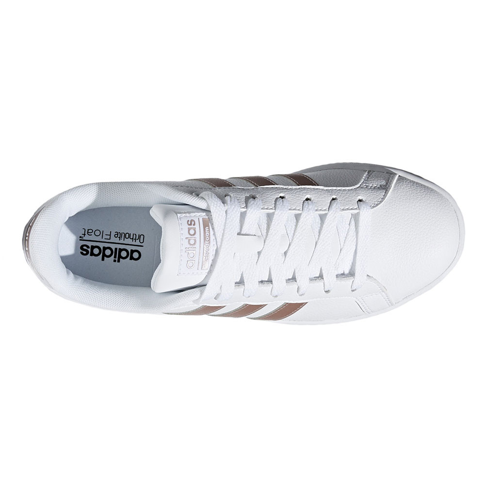chaussure femme adidas blanc et rose