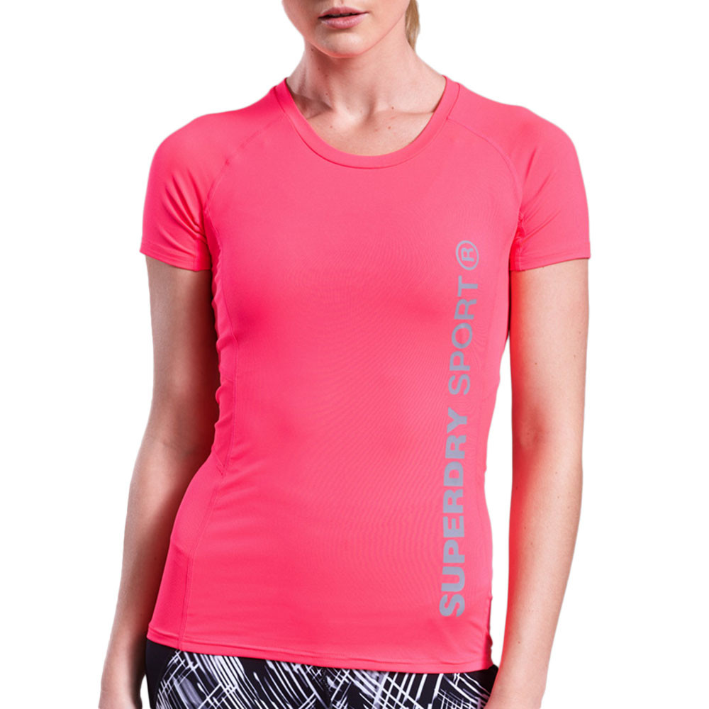 Core Fitted Mesh Panel T-Shirt Mc Femme