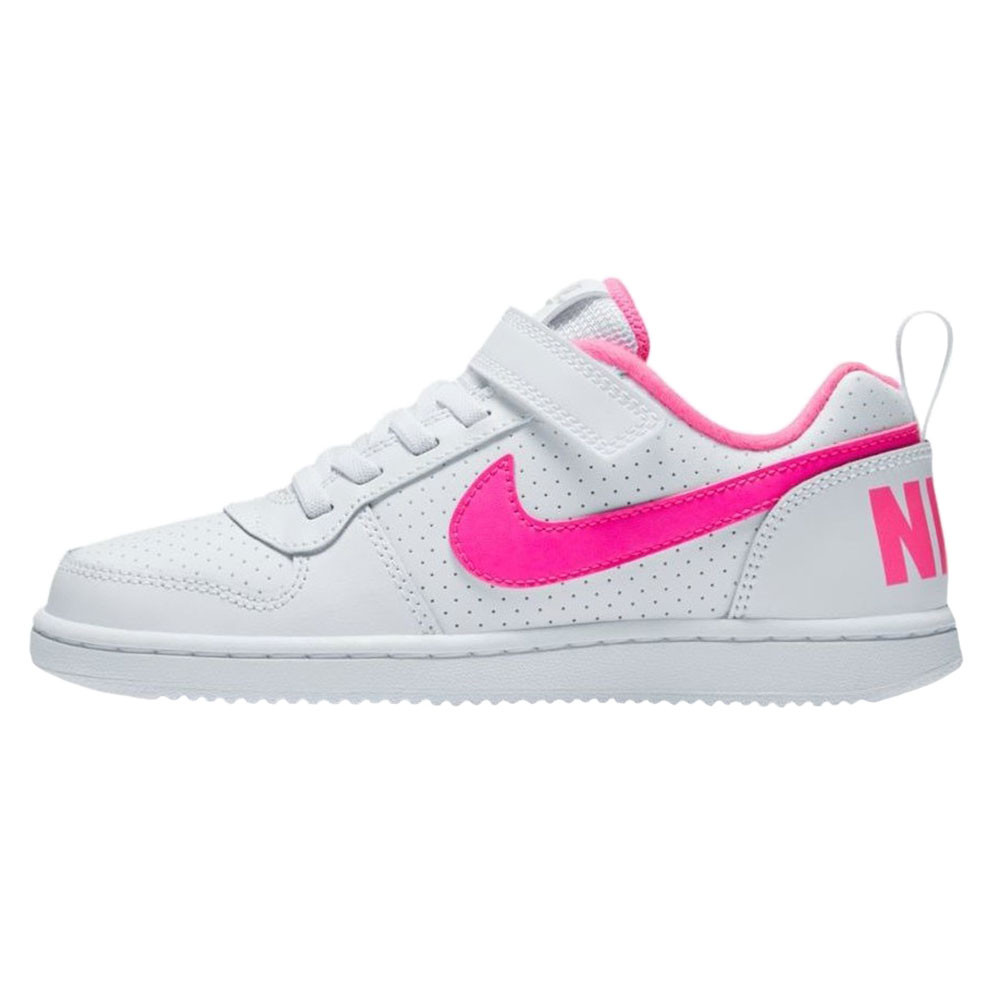 Baskets Blanc Chaussure Fille Basses Pas Borough Cher Nike Court v0Oy8wNmn
