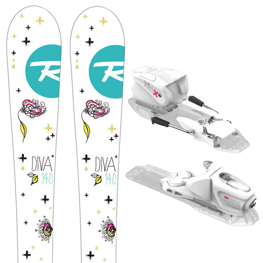 Diva Kid-X Ski + Kid-X 4 B76 Fixations Fille