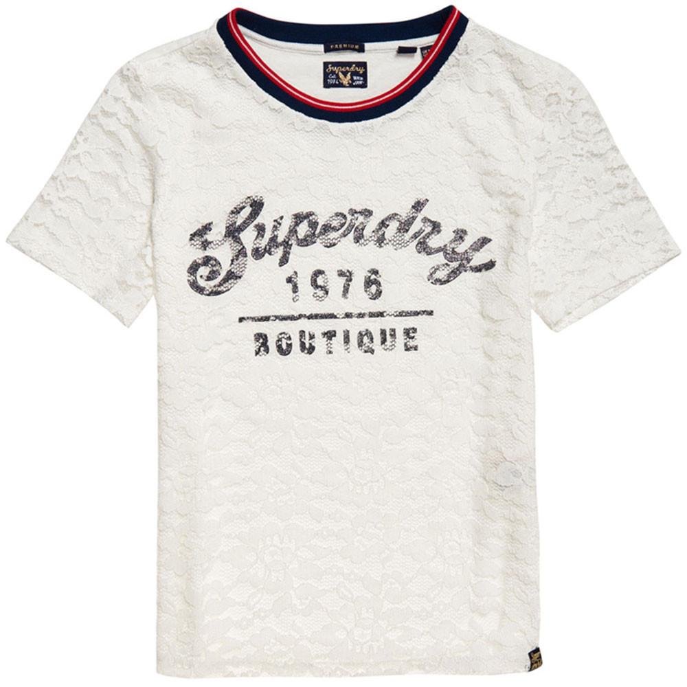 Elsworth Lace Graphic T-Shirt Mc Femme