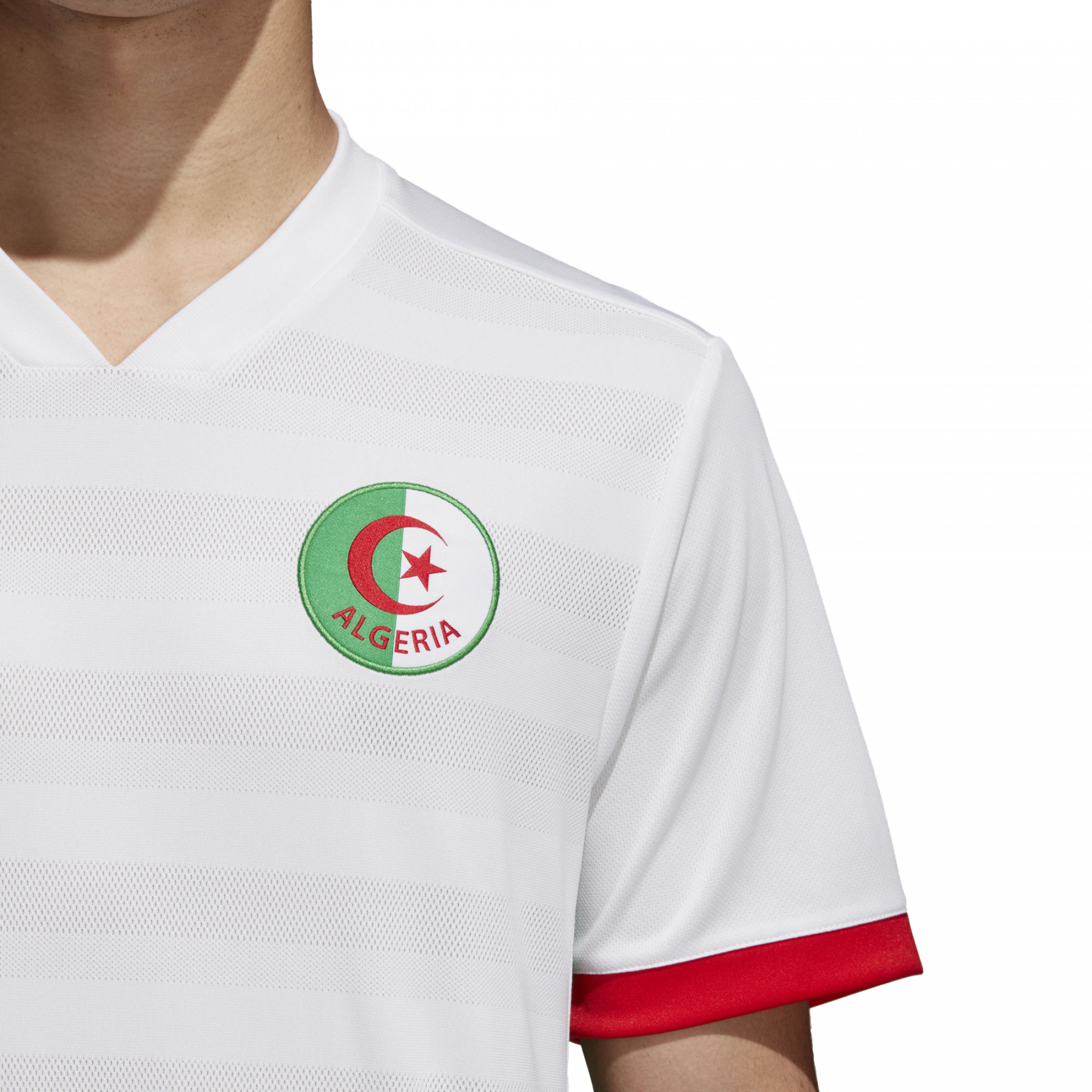 Faf H Maillot Domicile Algerie Homme ADIDAS BLANC pas cher