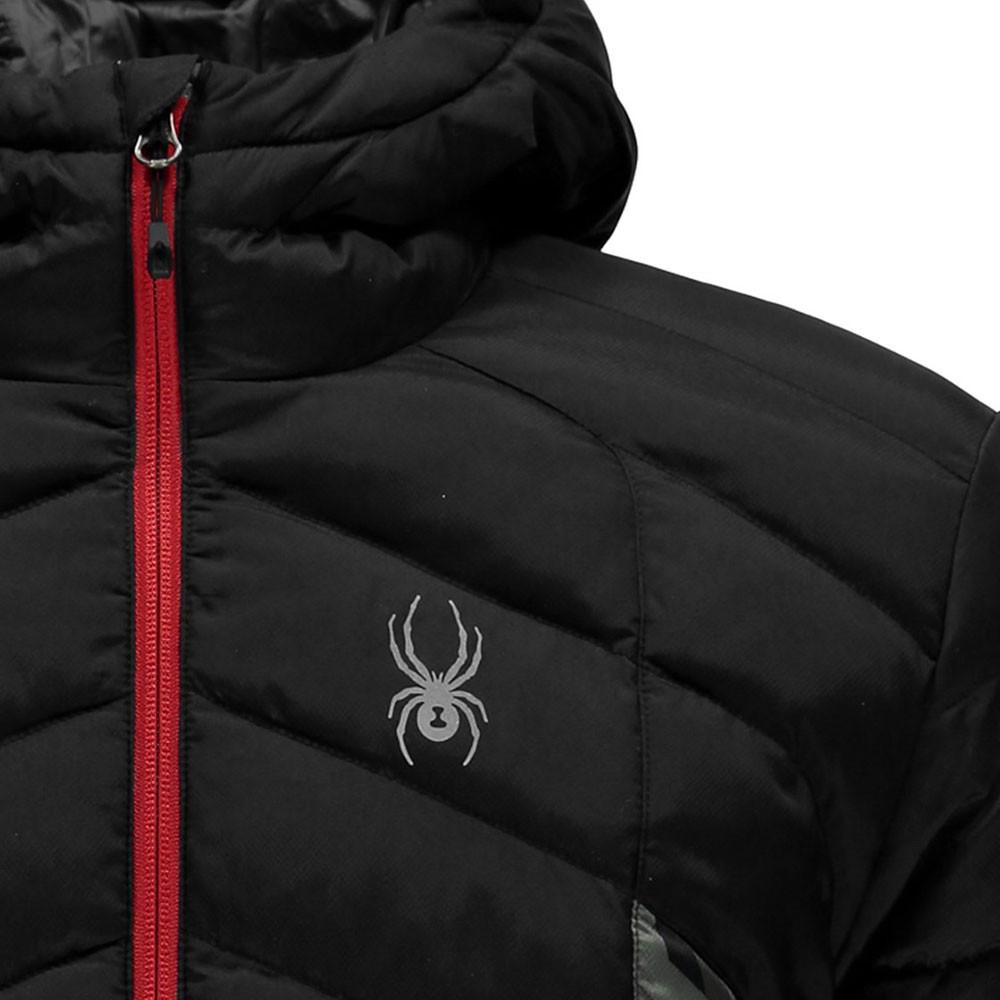 doudoune à capuche homme geared synthetic black black
