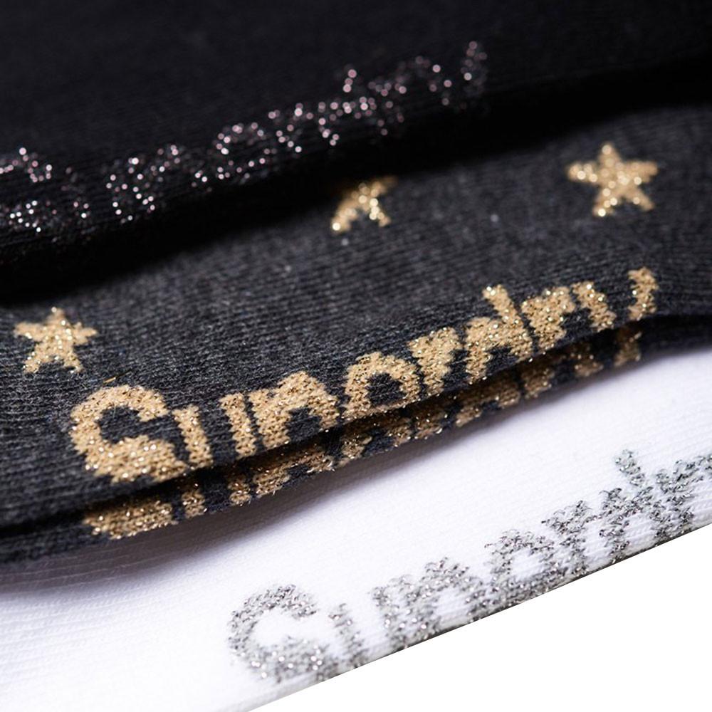 Glitter Sparkle Trainer Pack 3 Chaussettes Femme