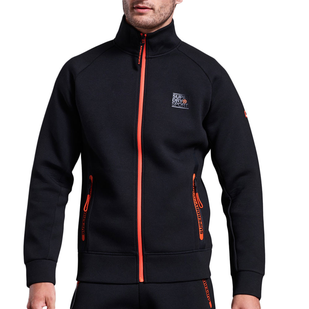 Gym Tech Stretch Track Sweat Zip Homme