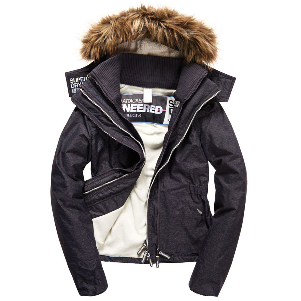 Hooded Fur Sherpa Wind Attacker Blouson Femme