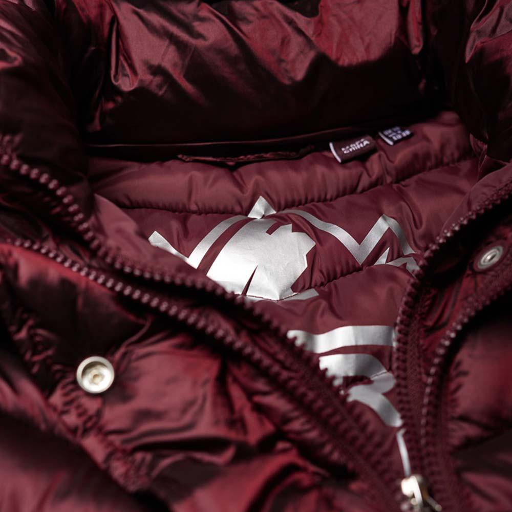 Luxe Chevron Double Zip Doudoune Femme SUPERDRY ROUGE pas