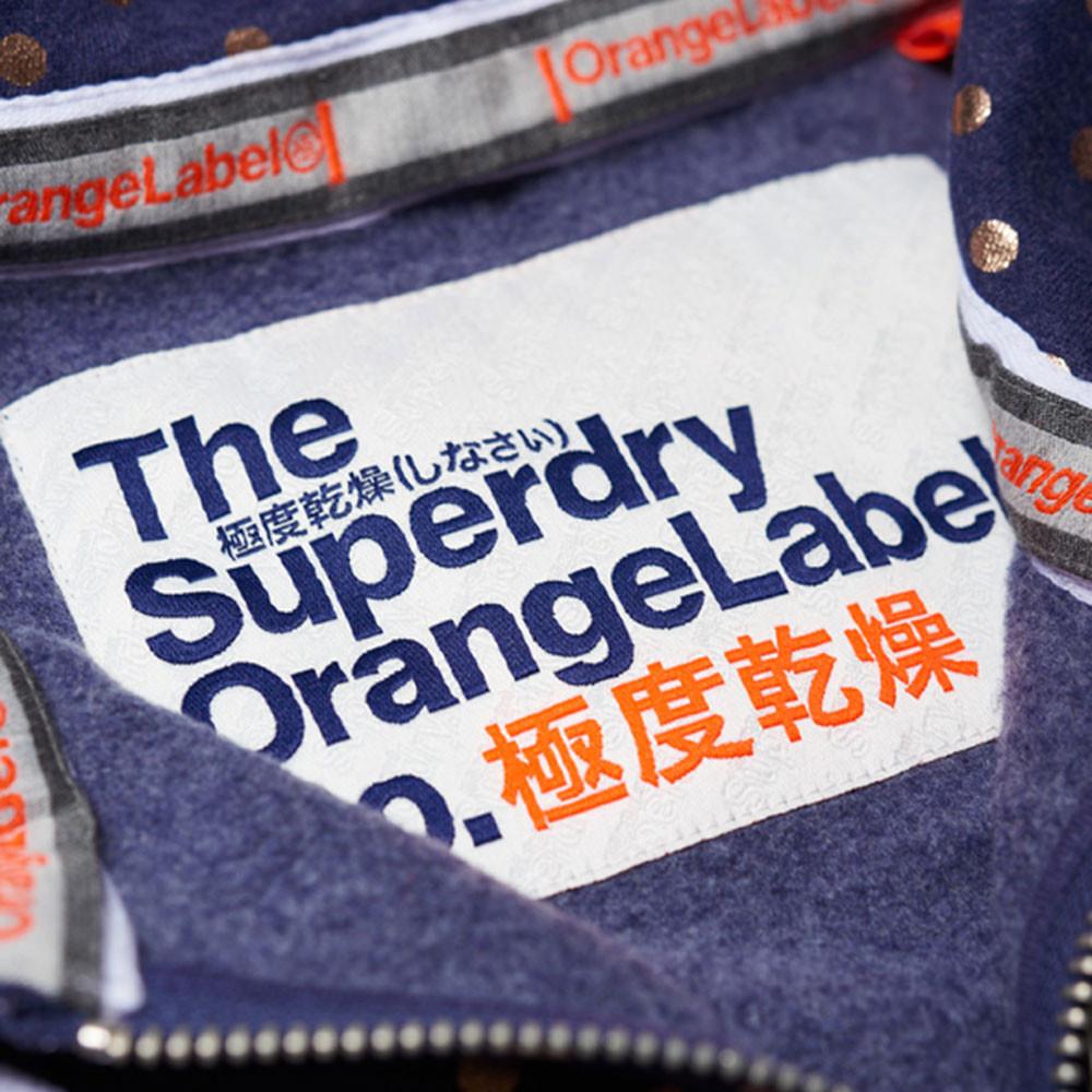 Orange Label Aop Sweat Zip Femme
