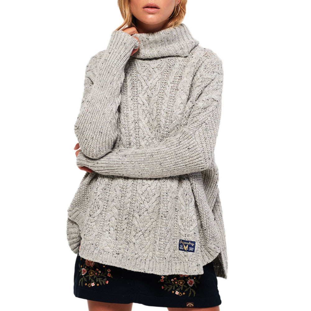 Pia Nep Cable Cape Pull Femme