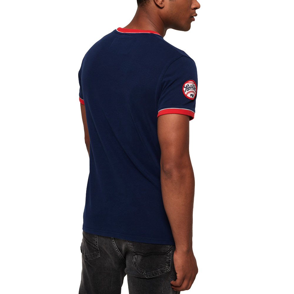 Pitch Field Ringer T-Shirt Mc Homme