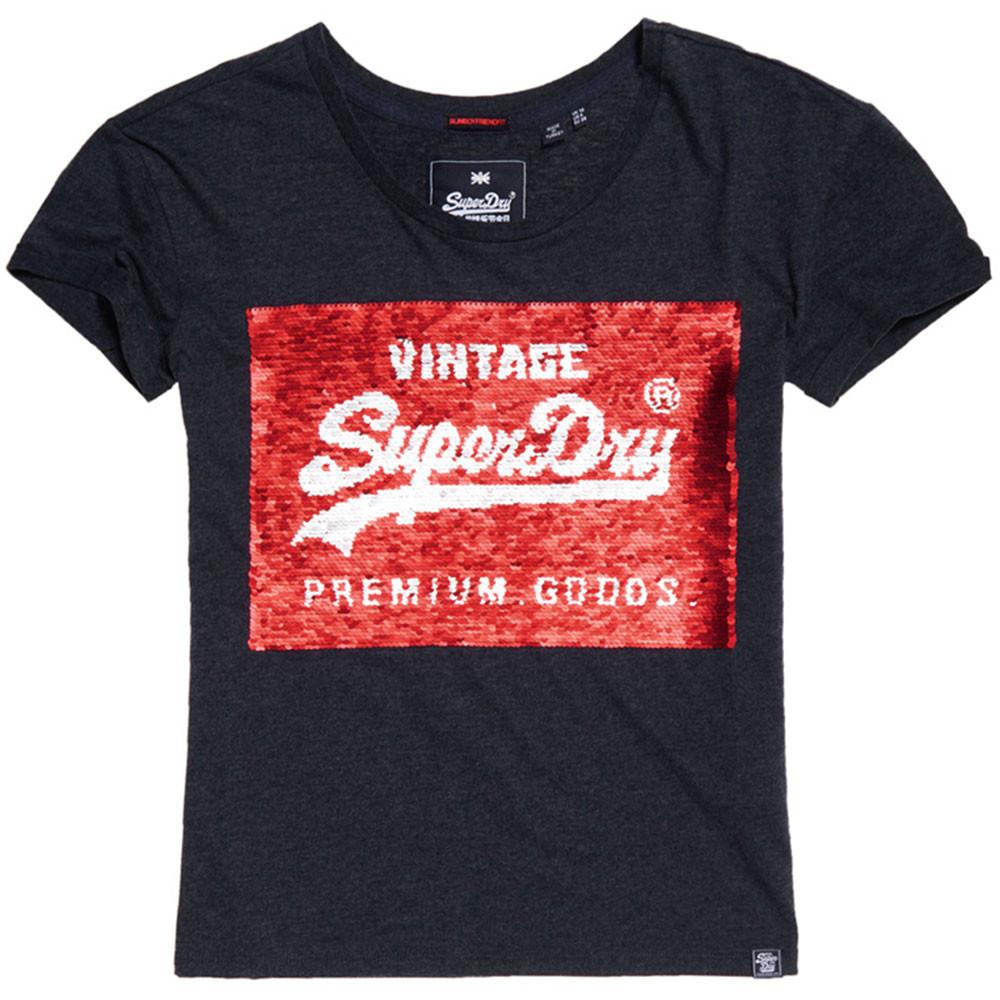 Premium Sequin Slim Bf T-Shirt Mc Femme