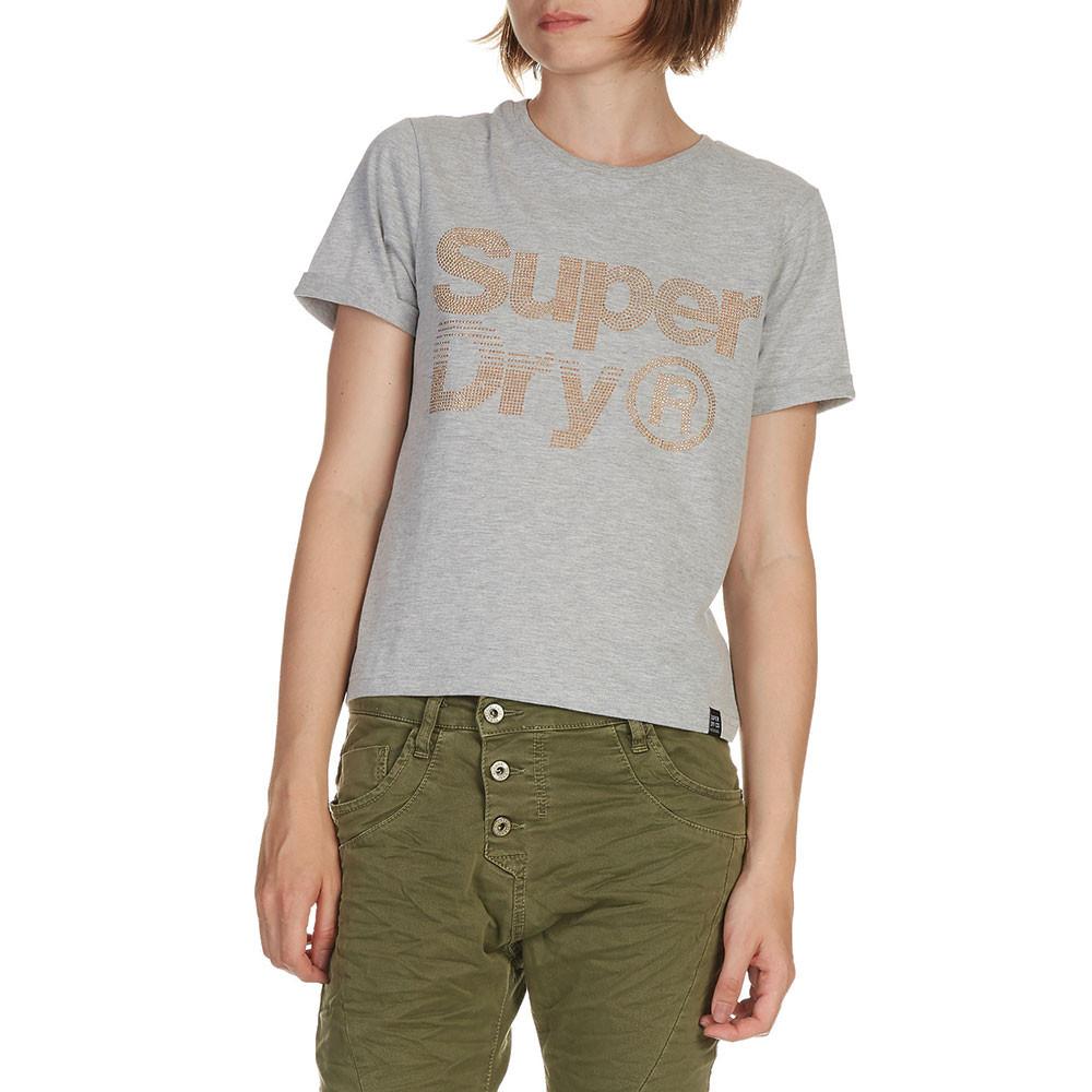 Rhinestone Boxy T-Shirt Mc Femme