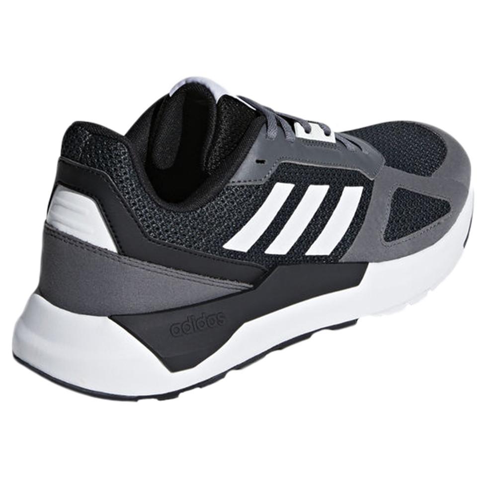 Run 80's Chaussure Homme ADIDAS NOIR pas cher Baskets