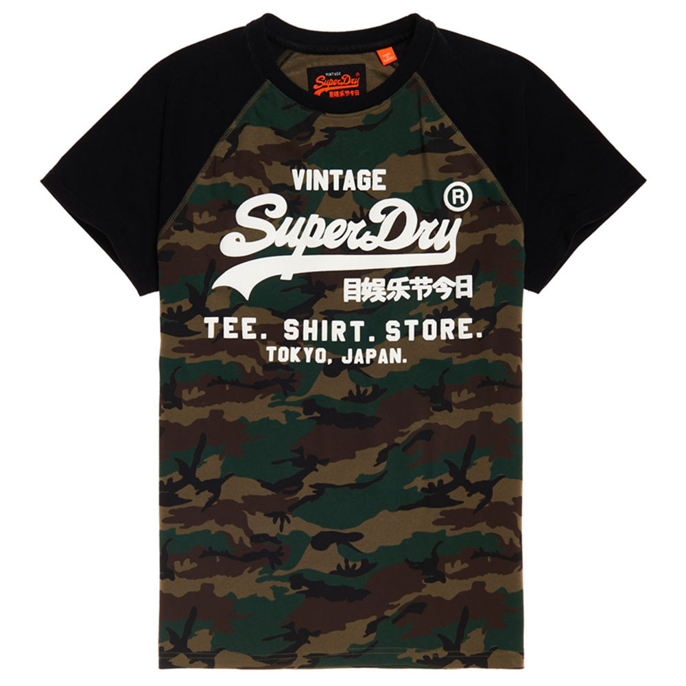 Shirt Shop Camo Raglan T-Shirt Mc Homme