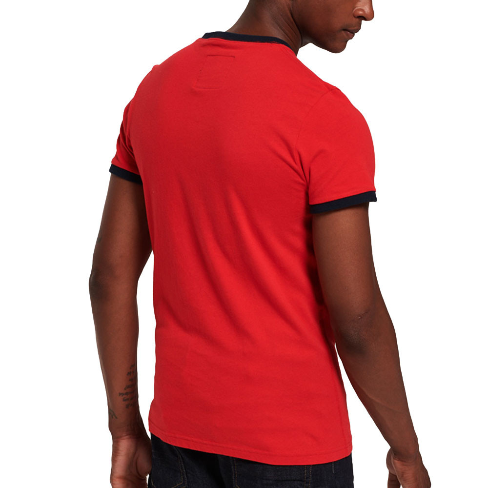 Shirt Shop Retro Ringer T-Shirt Mc Homme