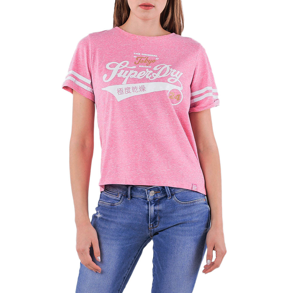 Sport Club Boxy T-Shirt Mc Femme
