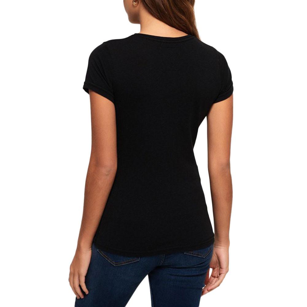 Star Athletic Glittr Entry T-Shirt Mc Femme