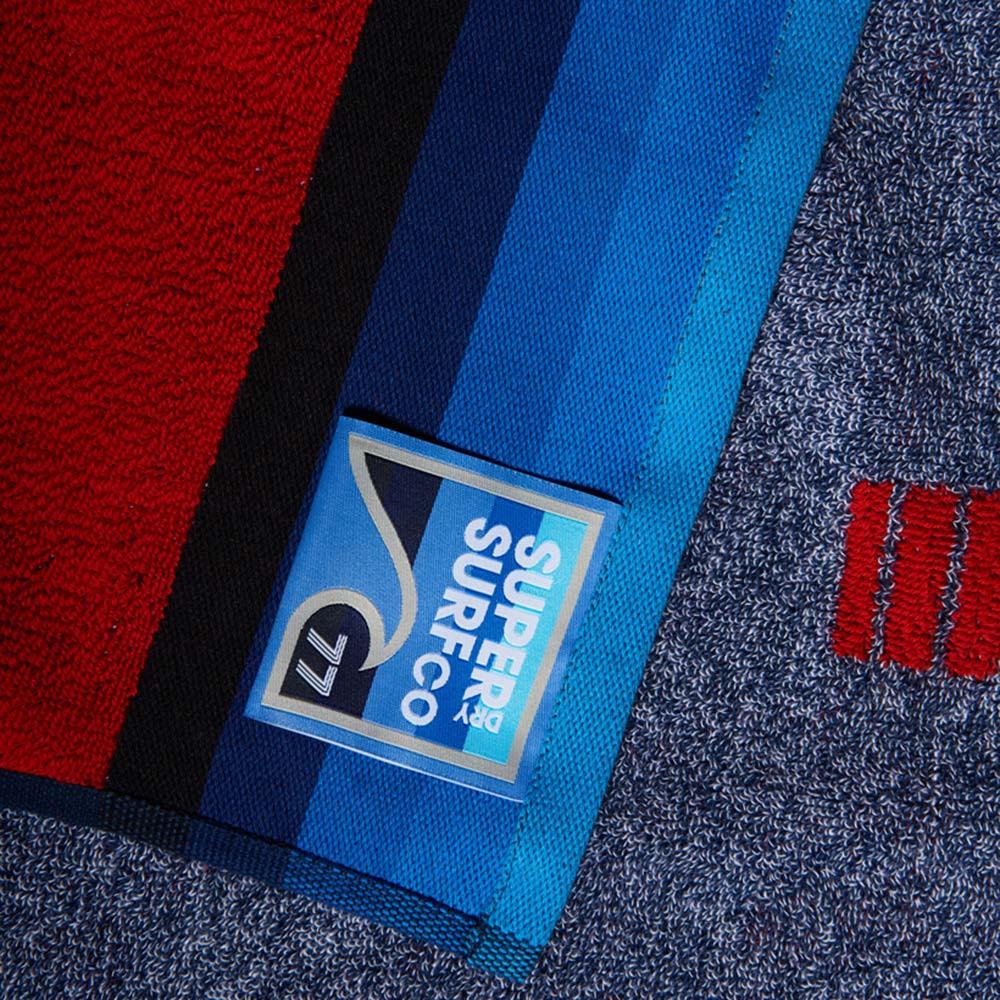 Superdry Homme Bord de Mer Serviette en Bleu//Blanc 63in X 3 Nouveau