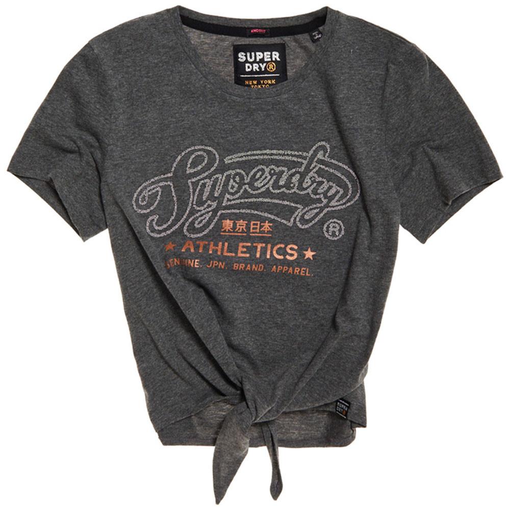 Superdry Athletics Knot Front T-Shirt Mc Femme