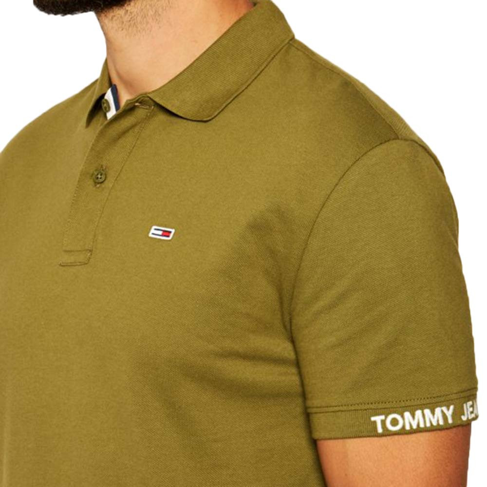 Tjm Branded Rib Polo Mc Homme