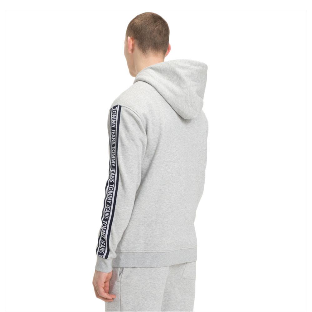 Tjm Rib Logo Hoodie Sweat Zip Homme