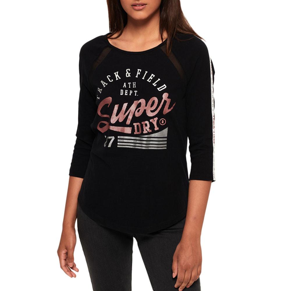 Track & Field Baseball T-Shirt Ml Femme