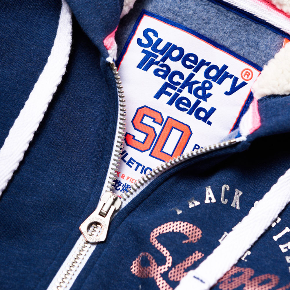 Track & Field Bord Sweat Zip Femme