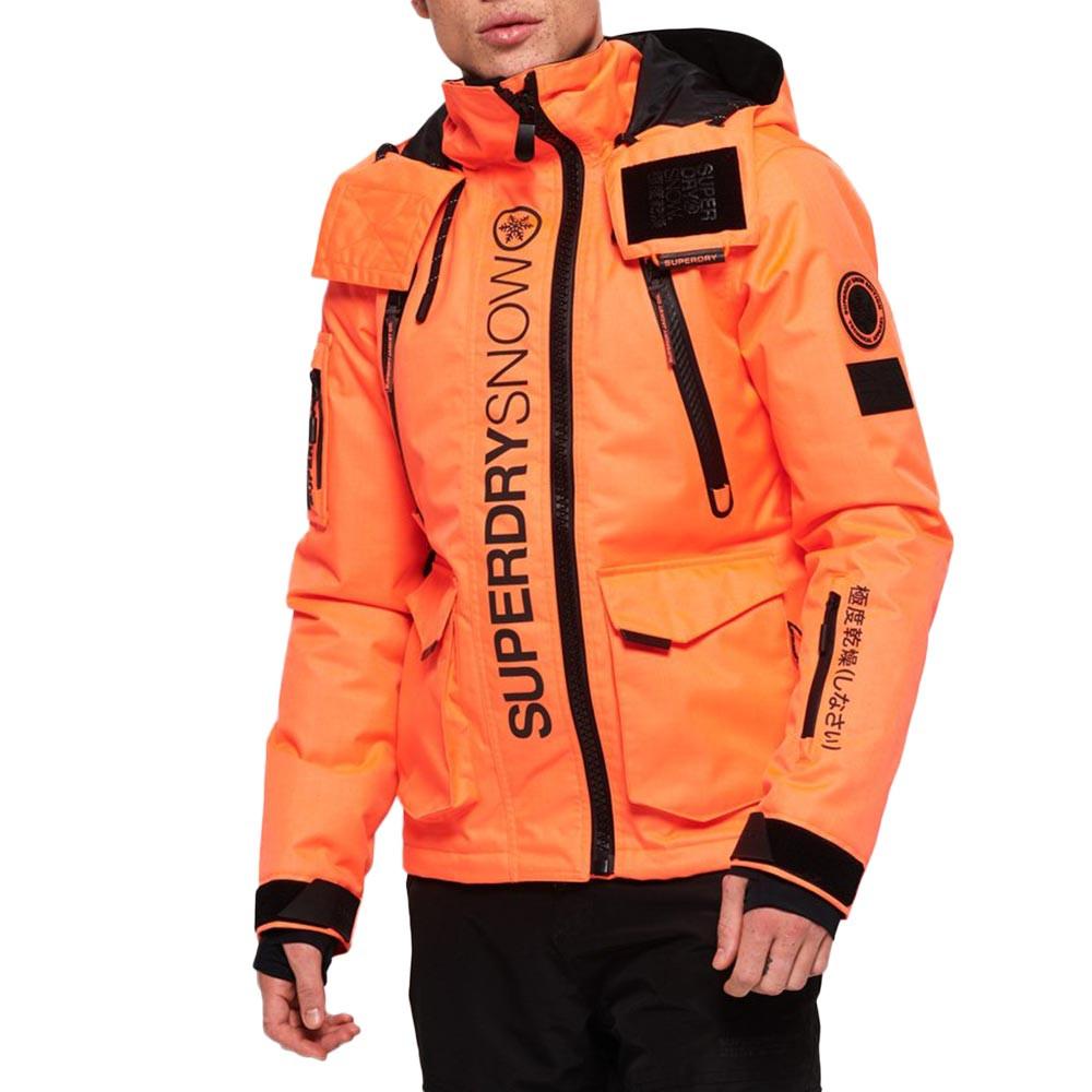 manteau superdry orange ski homme