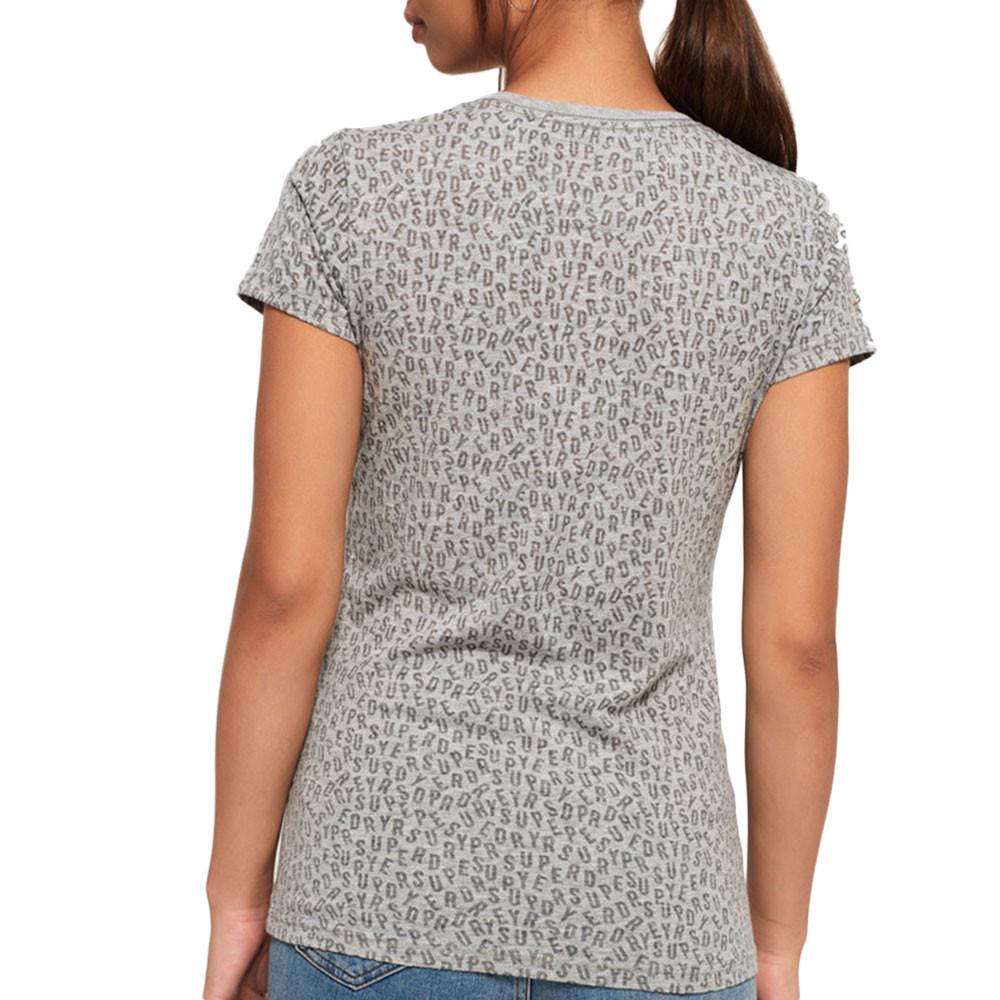 Vintage Logo Aop Burn Out Entry T-Shirt Mc Femme