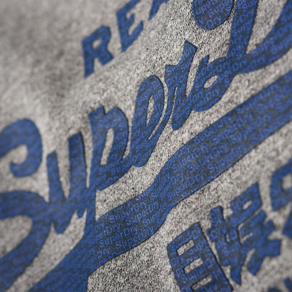 Vintage Logo Panel Stripe Crew Sweat Homme
