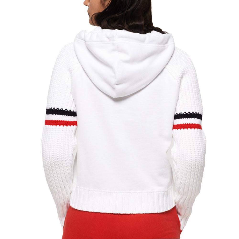 Winter Sports Crop Hood Sweat Cap Femme